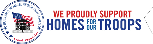 We Proudly Support Homes For Our Troops
